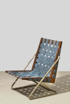 Walter E. Gindele: Prototype of an armchair, Vienna, This may have been too weak a design to make it to thee next level. Outdoor Chairs, Outdoor Furniture, Outdoor Decor, Chair Design, Furniture Design, Simple Furniture, Banquette, Couch, Interior Inspiration