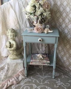 Shabby Cottage TableAccent Tableend by Fannypippin on Etsy