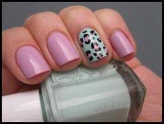 Diseño de uñas de leopardo