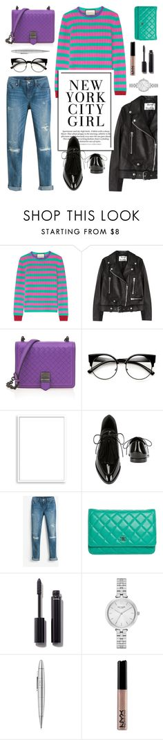 """Colorful Geek Chic..."" by glamorous09 ❤ liked on Polyvore featuring Gucci, Acne Studios, Bottega Veneta, Bomedo, Loeffler Randall, White House Black Market, Karl Lagerfeld, Chanel, Kate Spade and Giuliano Mazzuoli"