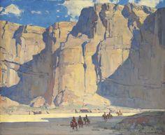 Edgar Payne Landscape Art, Landscape Paintings, Edgar Payne, Bg Design, Mary Cassatt, Desert Art, Southwest Art, Le Far West, Traditional Paintings
