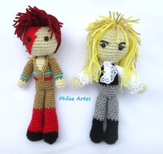Amigurumi - Crochet doll - Croche - David Bowie - Jareth - Labyrith - Ziggy Stardust