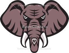 African Elephant Head Angry Tusk Retro Vector Stock Illustration Illustration of an african elephant head angry with tusk facing front set on isolated white background done in retro style. Elephant Face, African Elephant, Retro Vector, Wildlife Art, Royalty Free Images, Retro Fashion, Retro Style, Retro Illustrations, Disney Characters