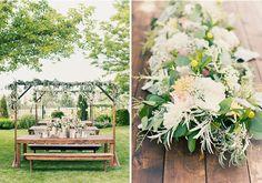 Long lush floral centerpieces by @studiostems