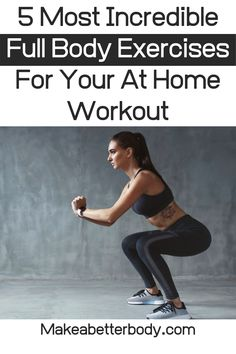 This beginners at home workout is great for men and women who want full body exercise routines that are easy to do with a focus on fitness for beginners. Easy At Home Workouts, Best At Home Workout, Home Exercise Routines, At Home Workout Plan, Do Exercise, Workout Plans, Beginner Full Body Workout, Workout For Beginners, Metabolic Workouts