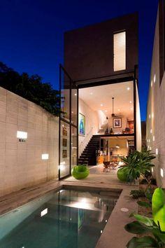 Glass House Design, Small House Design, Modern House Design, Loft Interior Design, Loft Design, Exterior Design, Future House, Home Modern, Loft Interiors