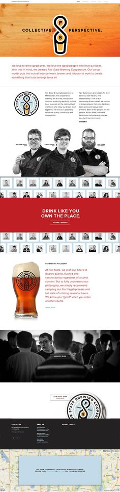Fair State Brewing Cooperative website designed by Little & Company.