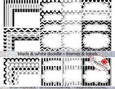 INSTANT DOWNLOAD-EDITABLE- Printable Black & White Damask