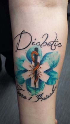 Medic alert tattoo. I like the background but would change the rest