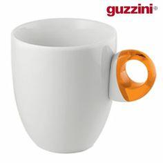 Guzzini Set of 2 Porcelain Mugs - Orange