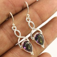 925 Sterling Silver New Designer Earrings MYSTIC QUARTZ Gemstones ! Manufacturer #Unbranded #DropDangle
