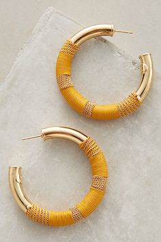 Porto Suede Hoops #anthropologie