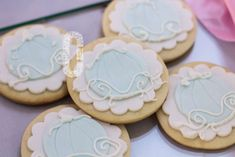 Pretty cookies at a Cinderella birthday party! See more party ideas at CatchMyParty.com!