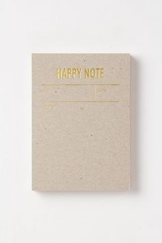 Anthropologie  Happy Notes