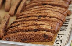 Nutella Biscotti!!! My daughter makes biscotti...bet she will try this for her holidäy gift giving!!! (Hope so!)