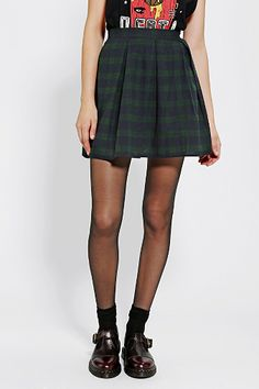 Coincidence & Chance Pleated Plaid Skirt