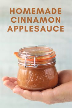 Cinnamon Applesauce - two different types of apples. sour, sweet and delicious! Fruit Recipes, Apple Recipes, Fall Recipes, Healthy Recipes, Healthy Habits, Healthy Foods, Homemade Applesauce, Applesauce Recipes, Canning Applesauce