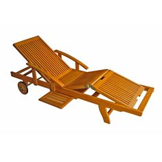 Have to have it. Royal Tahiti Wooden Chaise Lounge with Multi Position Deck $374.00