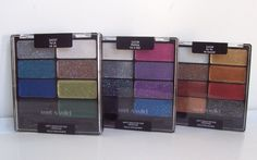 Wet N Wild 8 Pan Eyeshadow Palette Lot of 3 New Glitter 2014 Ho, Ho, Ho-llywood #WetnWild
