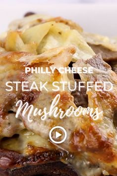 Philly Cheese Steak Stuffed Mushrooms by I Breathe I'm Hungry. Pin made by Overhead Pro. Authentic philly cheese steak recipe, baked stuffed mushroom recipes, beef for philly cheese steak, beef stuffed mushrooms, best philly cheesesteak recipe, cream cheese mushrooms, easy philly cheese steak recipe, healthy philly cheese steak, homemade philly cheese steak, keto philly cheese steak recipe, how to make philly cheese steak, keto diet dinner, low carb easy recipes, gluten free fast recipes.