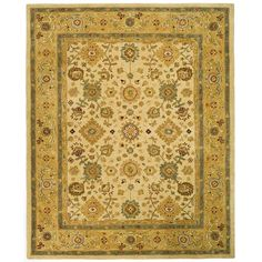 Handmade Heirloom Ivory/ Gold Wool Rug (9' x 12') | Overstock.com Shopping - The Best Deals on 7x9 - 10x14 Rugs