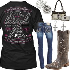 Live, Laugh, Love Beyond Words Outfit - Real Country Ladies