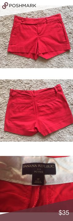 ♣️BF SALE♣️ Red Petite Shorts | Banana Republic Precious red petite shorts from Banana Republic in excellent condition. Zero signs of wear. Banana Republic Shorts