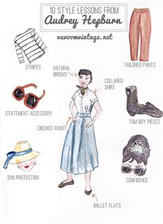 10 Style Lessons from Audrey Hepburn Browse free vintage patterns, retro hair tutorials and affordable vintage clothing. Enjoy diy fashion crafts and classic style inspiration Lady Like, Divas, Vintage Outfits, Vintage Fashion, Vintage Clothing, Elegant Clothing, Vintage Shoes, Look Fashion, Diy Fashion