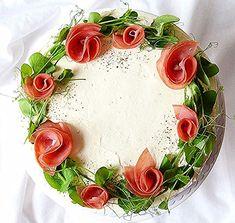 Food Design, Fancy Food Presentation, Food Plating Techniques, Salad Cake, Fancy Dishes, Lean Cuisine, Sandwich Cake, Food Garnishes, Catering Food