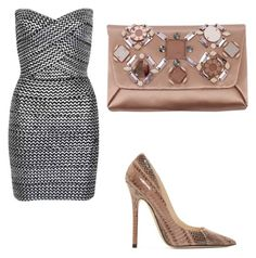 """""""Untitled #261"""" by markovickristina ❤ liked on Polyvore featuring WithChic, Jimmy Choo, Lanvin, women's clothing, women's fashion, women, female, woman, misses and juniors"""