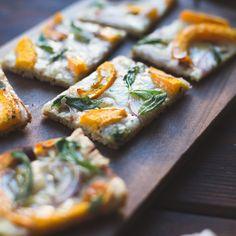 Pumpkin Flatbread with Gruyere and Crispy Sage {gluten-free}