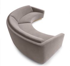 Buy Munna Ferdinand 350 Sofa Light Grey Velvet Brushed Brass Base online with Houseology's Price Promise. Full Munna collection with UK & International shipping. Find Furniture, Modern Furniture, Furniture Design, Chaise Sofa, Sofa Chair, Round Sofa, Curved Sofa, Upholstered Furniture, Furniture Inspiration