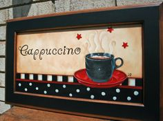 Click on the pin and view more.  https://www.etsy.com/listing/129386765/cappuccino-cup-hand-painted-wall-decor?ref=shop_home_active