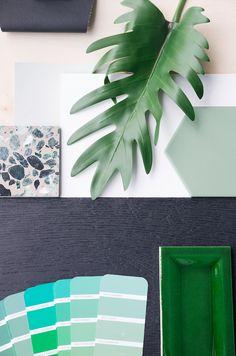 Fotograf: Filippa Tredal Plant Leaves, Interior Design, Plants, Velvet, Creative, Nest Design, Home Interior Design, Interior Designing, Home Decor
