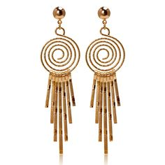 Top Quality Long Dangle Earings   Gold Color Wedding Earrings for Women Drop Chandelier Earrings