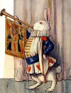Margaret Tarrant illustration from 'Alice in Wonderland' by Lewis Carroll Lewis Carroll, Alice In Wonderland Vintage, Alice In Wonderland Illustrations, Inspiration Artistique, Chesire Cat, White Rabbits, Adventures In Wonderland, Princesas Disney, Book Illustration