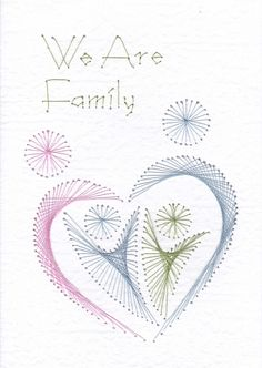 We are family - stitched card
