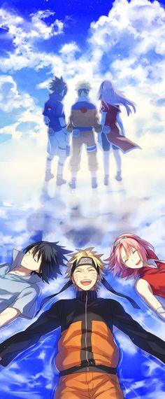Sasuke, Naruto, & Sakura, by かる