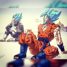 How goku and Vegeta Would had looked if they turned into a Super Saiyan Blue…