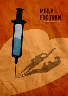 Quentin Tarantino Minimalist Movie Poster Pulp Fiction