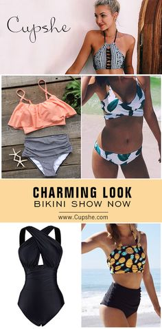 Charming Look Here! Short Shipping Time! Easy Return + Refund! Let your swimwear be the talk of your next beach party. Pick one for summer holiday at Cupshe.com!