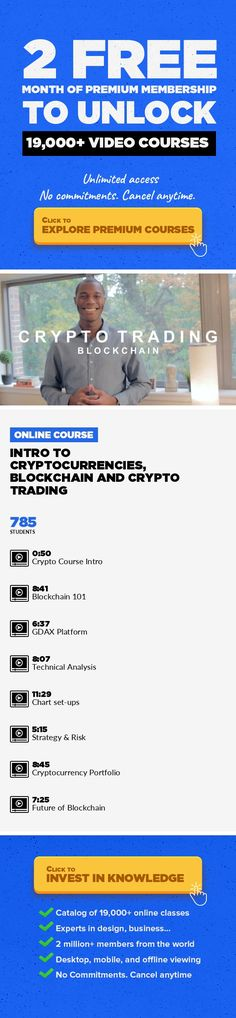 Intro to Cryptocurrencies, Blockchain and Crypto Trading Business, Finance, Bitcoin, Cloud Computing, Big Data, Investing, Data Science, Trading #onlinecourses #onlinetraininglink #onlineprogramsstudent   What is a cryptocurrency? How do you trade them? Who is leading innovation? Explore these topics in my exciting new class on cryptocurrency trading and investments. This is the only course where ...