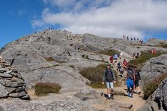 "It's an NMH tradition that seniors climb Mount Monadnock on a surprise holiday from classes dubbed ""Mountain Day.""  David Warren photo"