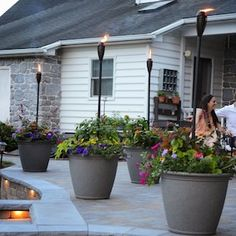 Brighten up your boring patio with these DIY patio ideas. From patio furniture to patio flooring ideas, there's a project for every inch of your patio. Backyard Lighting, Deck Lighting, Patio Lighting Ideas Diy, Lights For Patio, Outside Lighting Ideas, Lighting Design, Ceiling Lighting, Landscape Lighting, Backyard Lights Diy