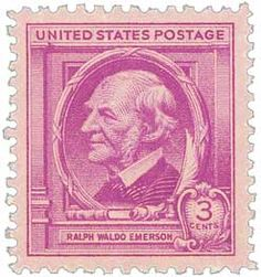 1940 3c Ralph Waldo Emerson - Catalog # 861 For Sale at Mystic Stamp Company