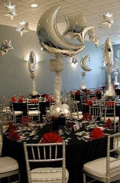 Elegant Party Decoration Ideas | ... Georgia - Bar/Bat Mitzvahs Centerpiece  Theme Party Decoration Ideas