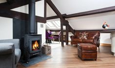 Welcome to Hayloft Cottage in Windermere. This gorgeous barn conversion blends the best of contemporary style and traditional charm. Windermere, Luxury Apartments, Lake District, Lakes, Contemporary Style, Cottages, Barn, Loft, Home Appliances
