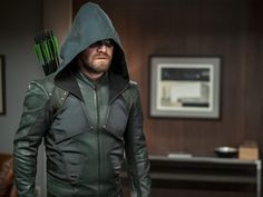 "As ""Arrow"" heads into retirement, Stephen Amell's Emerald Archer leaves behind a legacy that may only be rivaled by Robert Downey Jr.'s Tony Stark. Supergirl 2015, Supergirl And Flash, Steven Amell, Dc Comics, Oliver Queen Arrow, Black Siren, David Ramsey, Hq Dc, Lance Black"