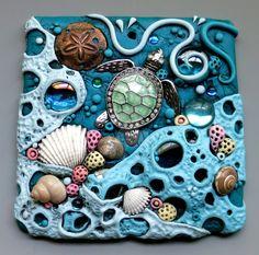 Sea Turtle Sun Catcher Tile by MandarinMoon.deviantart.com on @DeviantArt