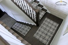 Makeover your stairs for style and safety with this 40 minute $140 carpet runner solution.